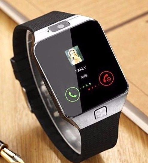 Smartphones Smart Watch Silver Black for iPhone Android HD Camera Bluetooth New #SmartphonesSmartWatch