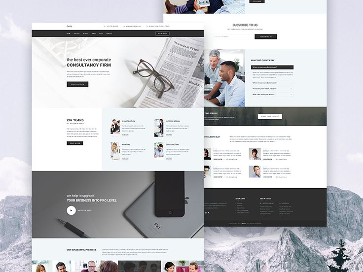 GaGo - Business Consulting and Finance Website Template by Sayeed Ahmad
