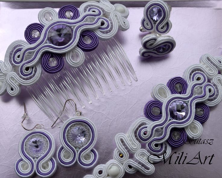 Unique jewellery, soutache, sutasz https://www.facebook.com/SutaszMili