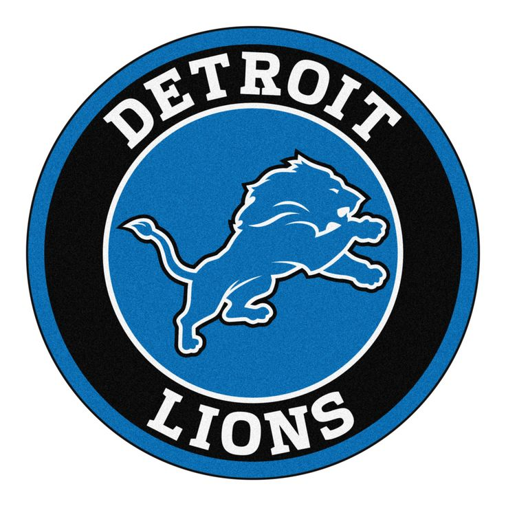 "For all those NFL fans out there, these 27"" round rugs featuring the Detroit Lions logo and colors look great in any man cave, game room, or anywhere esle in the house, even in the parking lot while t"