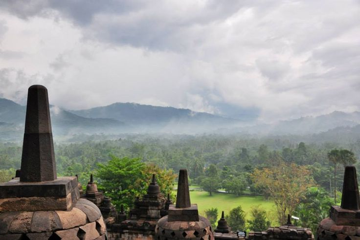 View from Borobudur. Taken using Nikon D90.