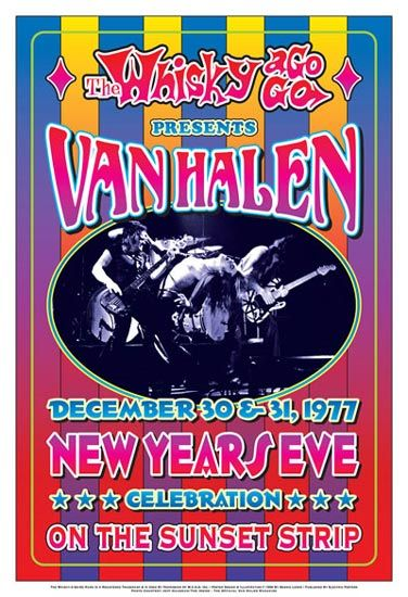 Van Halen New Years Eve Whisky Poster | Posters ...