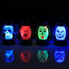 1 pcs Animados Esqueleto decorado festa do Dia Das Bruxas Dia Das Bruxas casa Assombrada adereços terrorista crânios lanterna portátil Frete Grátis(China (Mainland))