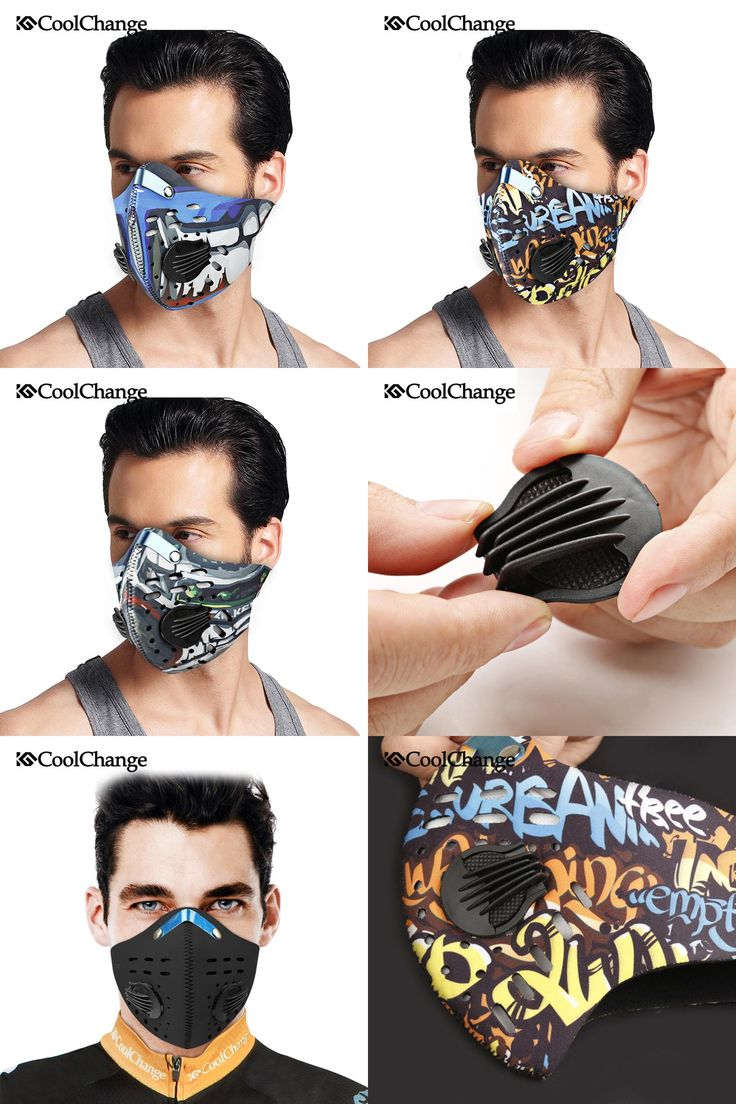 [Visit to Buy] 2017 CoolChange Cycling Mask With Filter 9 Colors Half Face Carbon Bicycle Bike Training Mask Mascarilla Polvo Mascaras Ciclismo #Advertisement