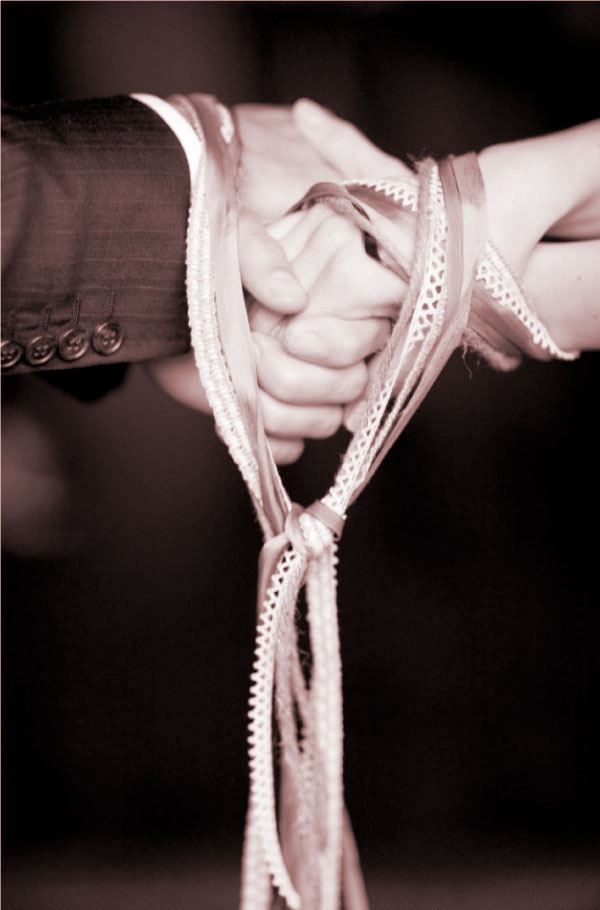 "handfasting-ceremony the original meaning of ""tying the knot"" <3"