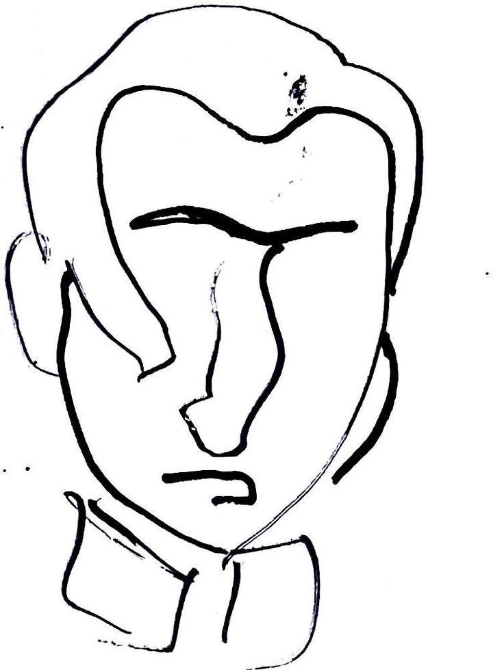 retrato personaje famoso chileno, Jose Miguel Carrera con tinta china.