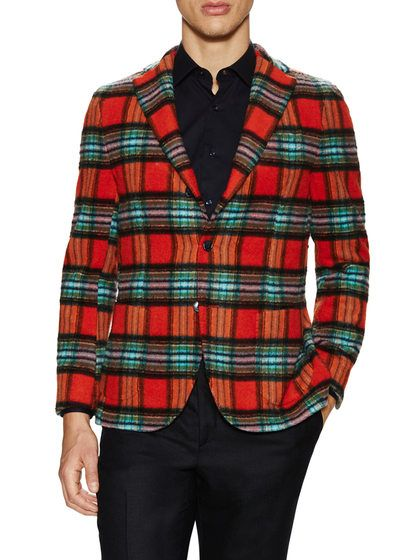 Giacca Plaid Sportcoat by Altea at Gilt