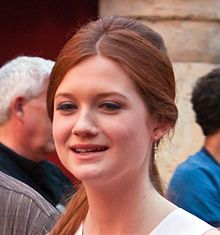 Bonnie Wright - 17 February 1991 (age 22).English actress, fashion model, screenwriter, director and producer. During the filming of Harry Potter and the Deathly Hallows – Part 1 and Part 2, Wright began attending London's University of the Arts: London College of Communication, to study as a Film and Television Production Manager, has graduated and is the owner of her own production company called Bon Bon Lumiere.