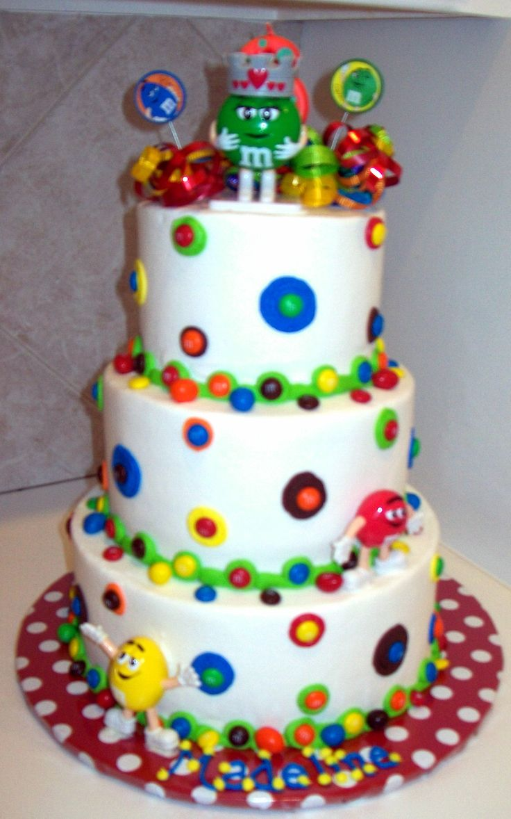 Best Natalies St Birthday Party Ideas Images On Pinterest - M and ms birthday cake