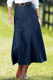 Petite Denim Skirt