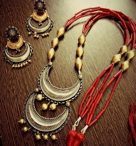 Buy Kundan Choker Necklace Priya Nacc10438c: 12 Best Thread Oxidised Necklace Set Images On Pinterest