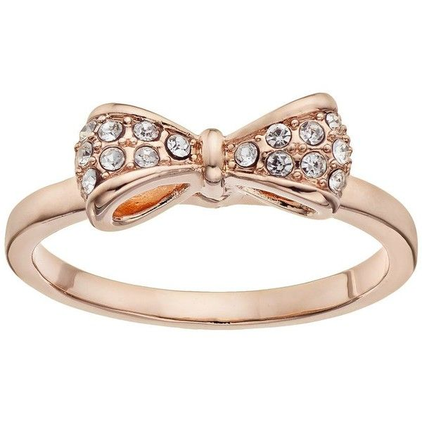 LC Lauren Conrad Bow Ring (Rose Tone) found on Polyvore