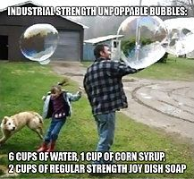 How to make perfect indestructible bubbles