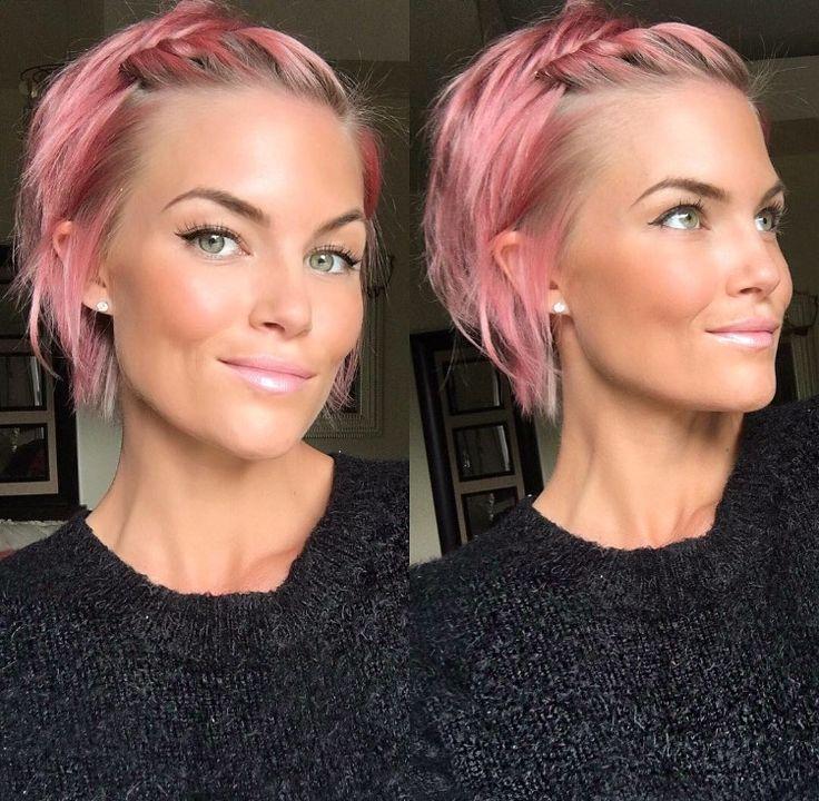 Rose quartz watercolor hair @krissafowles