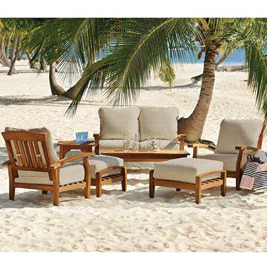 7 pc teak patio seating set various colors - Garden Furniture Kings Lynn