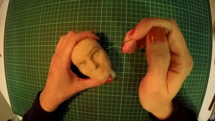 Keçe iğneleme insan yüzü yapımı-Nil Karaibrahimgil