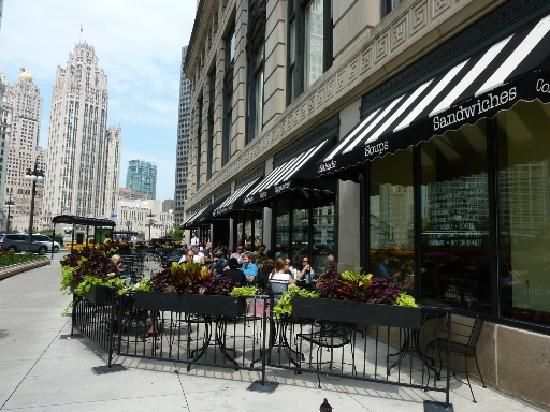 Corner Bakery, 360 N. Michigan, Chicago Large Dog Friendly Patio For A