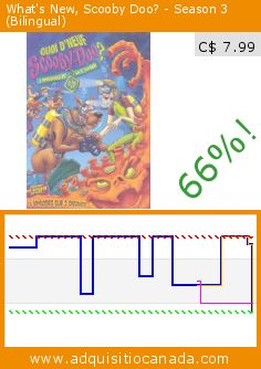 What's New, Scooby Doo? - Season 3 (Bilingual) (DVD). Drop 66%! Current price C$ 7.99, the previous price was C$ 23.18. http://www.adquisitiocanada.com/warner/whats-new-scooby-doo-2
