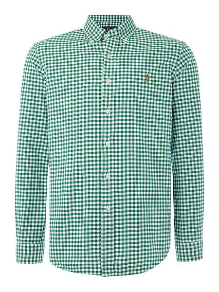 befa7dd1d hot ralph lauren, Mens polo ralph lauren clothing : polo ralph lauren long  sleeve oxford gingham shirt - green casual shirts,sale ralph lauren, ralph  lauren ...