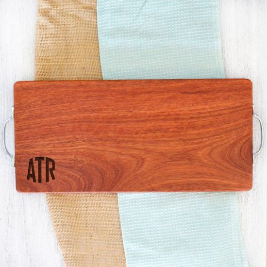Personalised Rounded Initials Chopping Board