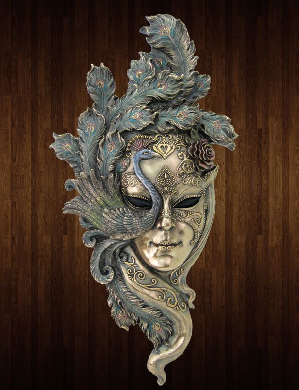 Wall Decoration With Masks : Venetian mystique peacock mask wall plaque ss tlt