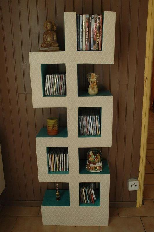 Colonne cd cartonagem pinterest estante de livros - Colonne porta cd ...