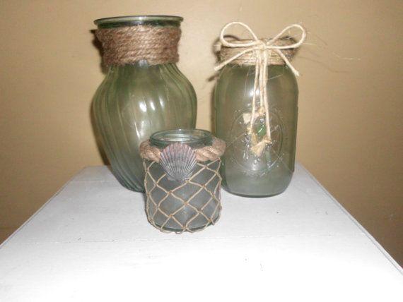 Mare di vetro portacandele vasi contenitori di NianticBeachHouse