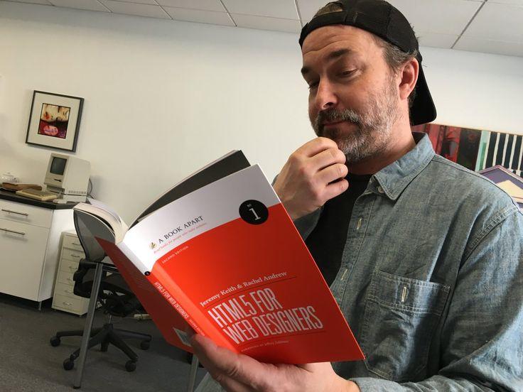 That new book smell! HTML5 For Web Designers, 2nd Edition. By Jeremy Keith & Rachel Andrew. A Book Apart.  Jeffrey Zeldman (@zeldman) | Twitter