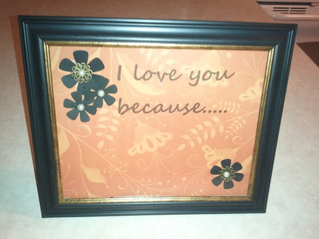 I love you because message board.
