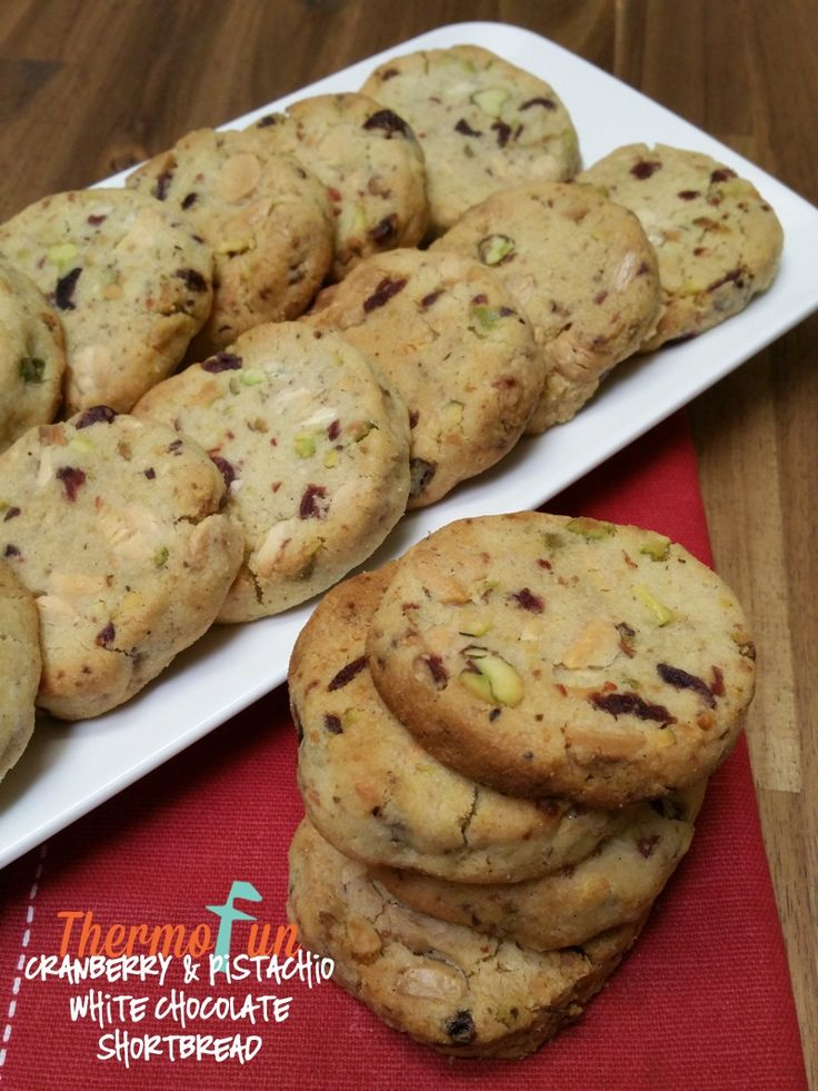 Cranberry Pistachio and White Chocolate Shortbread | ThermoFun | Thermomix Recipes & Tips