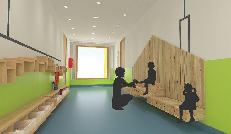 Interior design for kindergarten on Behance