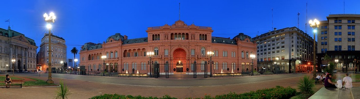 """La Casa Rosada (English: The Pink House) is the executive mansion and office of the President of Argentina. The palatial mansion is known officially as Casa de Gobierno, which means """"House of Government"""" or """"Government House"""" in English language. Normally, the President lives at the Quinta de Olivos, the official residence of the President of Argentina, which is located in Olivos, Buenos Aires Province."""