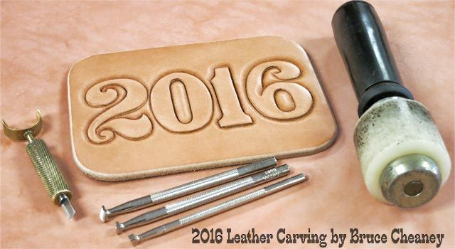 2016 Leathercraft. Leather carving by Bruce Cheaney leather crafter and leather worker.