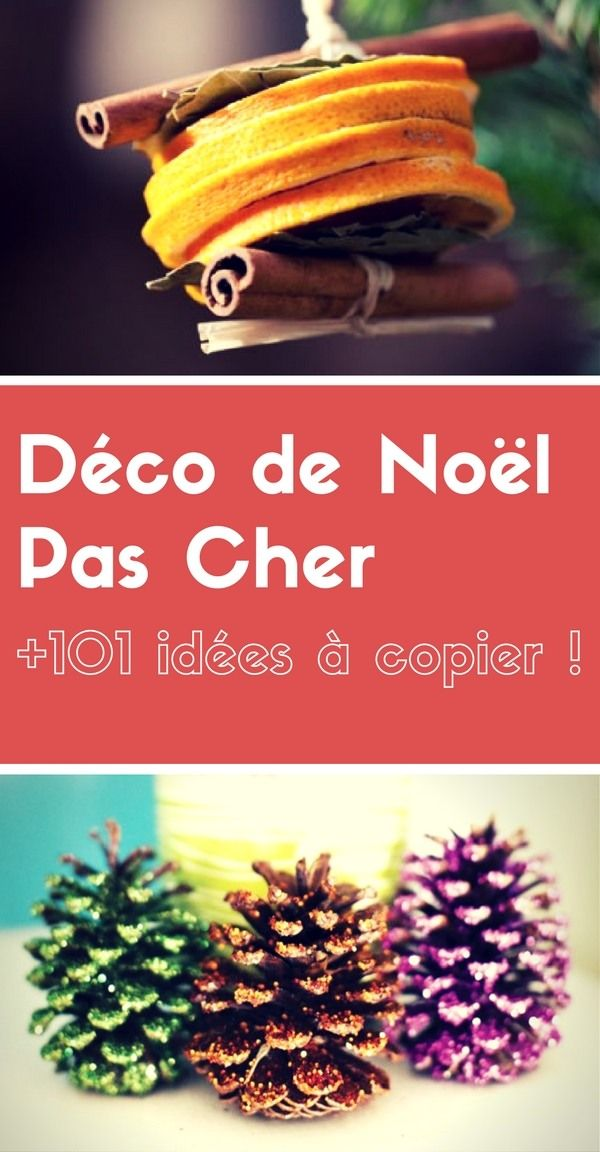1000 id es sur le th me d co de no l sur pinterest - Idee decoration de noel a faire soi meme ...
