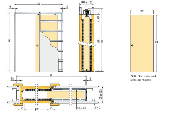 Pocket Door Dimensions Google Search Architecture In