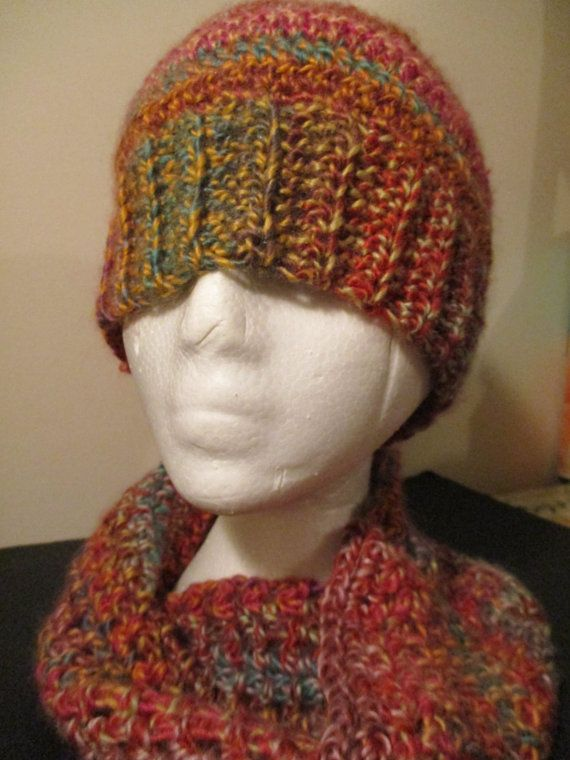 Multicolour Messy Bun Touque and Infinity by ChocolateMountain