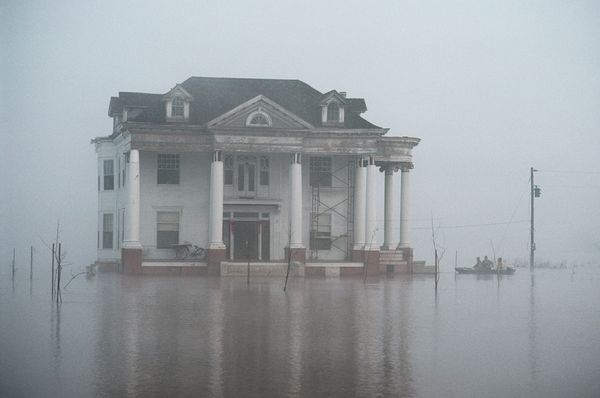 national geographic vintage photos of mississippi   Mississippi River flood picture: A house standing amid floodwaters in ...