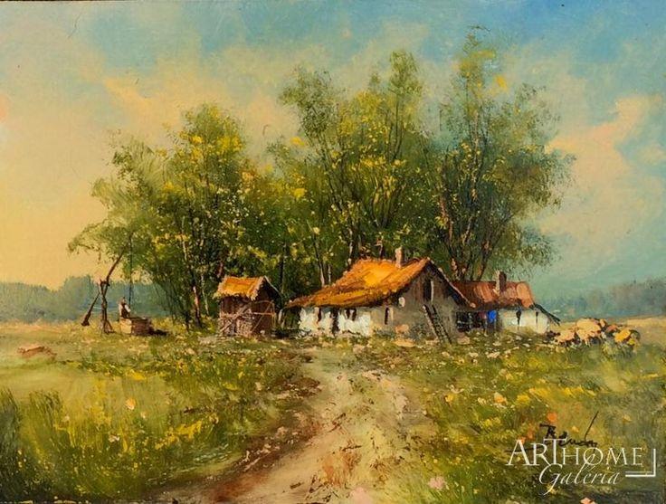 Benda Zoltán festmény-Tavasz