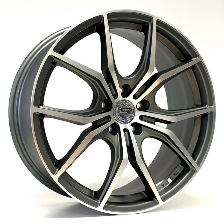 18 ZCW ST5 GUN METAL POLISHED FACE alloy wheels for 5 studs wheel fitment in 8x18 rim size