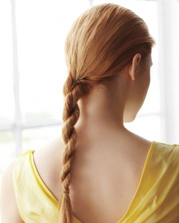 Hair-Braiding How-To: The Rope Braid actually works: twist two sections to right, then twist both together left.