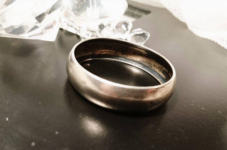 Vintage silver napkin ring, solid silver napkin ring, Circa 1910 by StolenAttic on Etsy