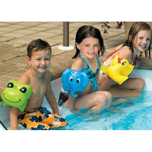 The Animal Fun Arm Bands are made with heavy duty vinyl and feature a dual chamber safety design. Choose from a frog, elephant and duck. Find all of your pool and spa needs at www.discountpoolsupply.com