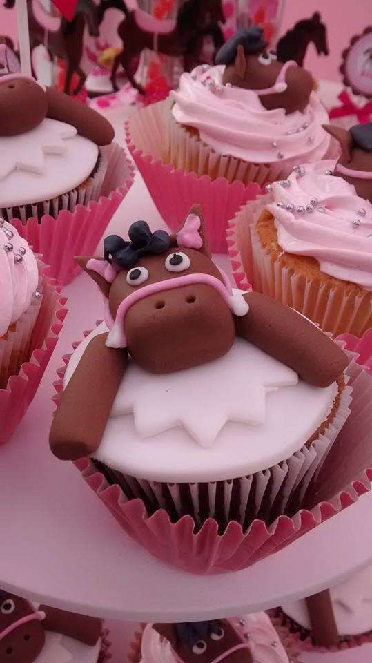 Horses Birthday Party cupcakes! See more party planning ideas at CatchMyParty.com!