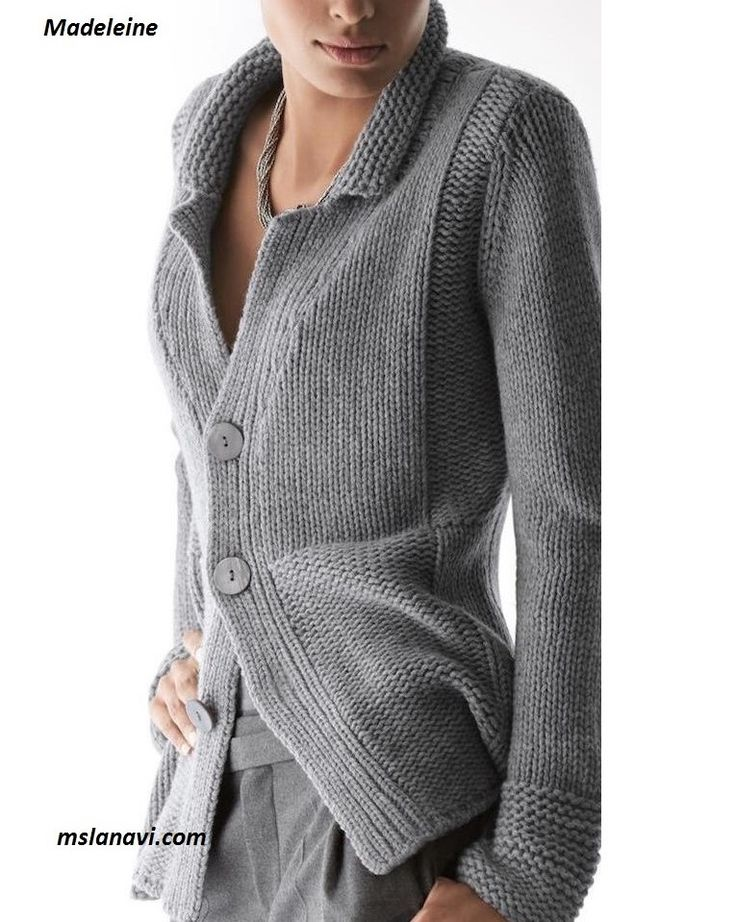 No pattern but interesting combination of garter and stockingette. Simple jacket from the brand spokes Madeleine