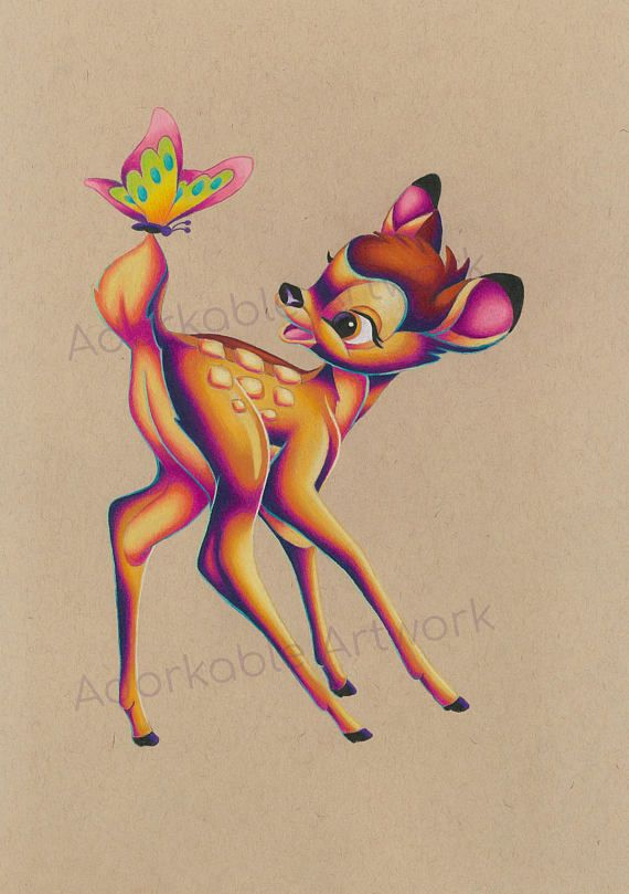 ORIGINAL Bambi Drawing