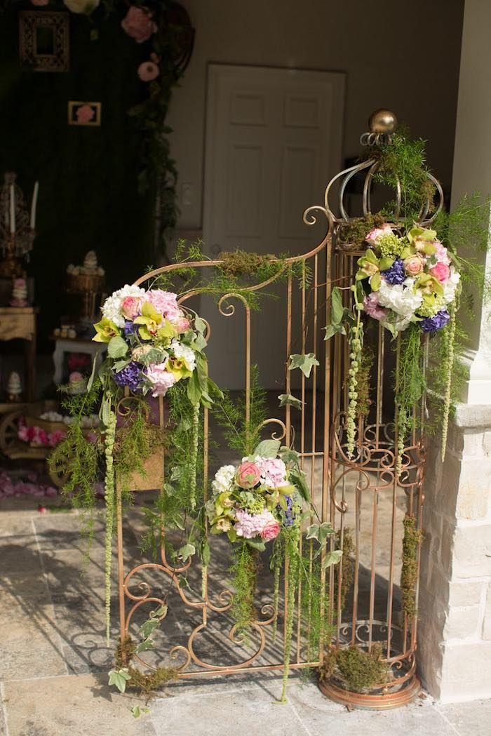 Enchanted Garden: Floral Draped Metal Decor From Vintage Enchanted Garden