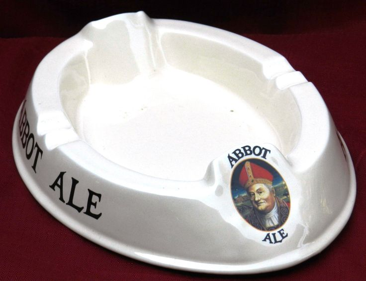 Vintage Abbot Ale Ashtray Made by Wheeler Ceramic, England 11 1/4 by 8 Inches                       00490 by NWAttic on Etsy https://www.etsy.com/listing/244752619/vintage-abbot-ale-ashtray-made-by
