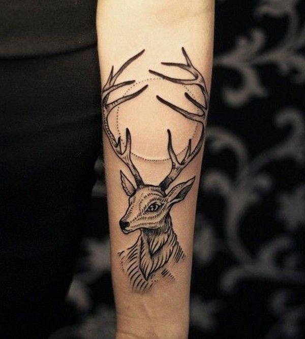 Tatuagens no Antebraço |  cervo