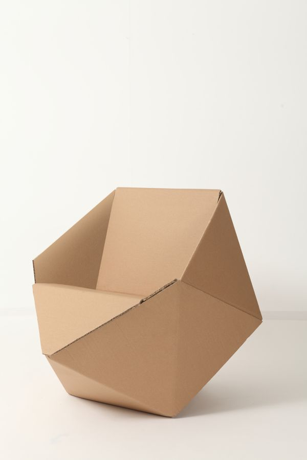 DIAMOND // CARDBOARD // CHAIR by Lia Tzimpili, via Behance