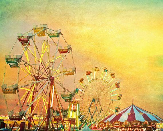 Carnival photography Ferris wheel county fair by Carl Christensen
